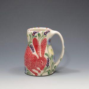 Red Rabbit Mug Sue Tirrell