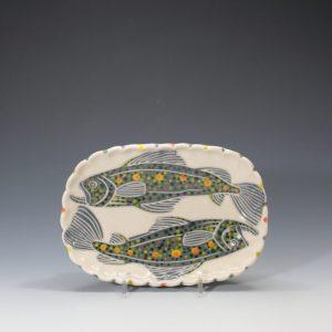 Trout Butter Plate - 2 Sue Tirrell