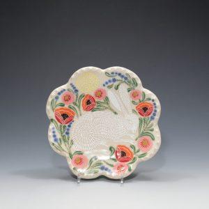 White Rabbit Petal Plate Sue Tirrell