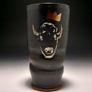 Bison King Pint Glass Stephen Mullins