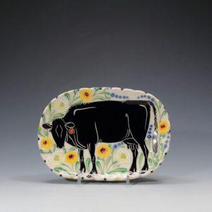 Black Angus Butter Plate Sue Tirrell