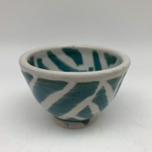 Tiny Turquoise and White Bowl by Margo Brown - 2262