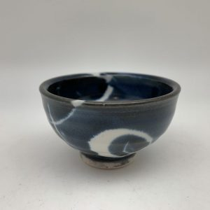Mini Navy and White Bowl by Margo Brown - 2269
