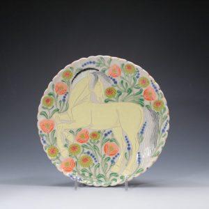 Fjord Horse Dinner Plate Sue Tirrell