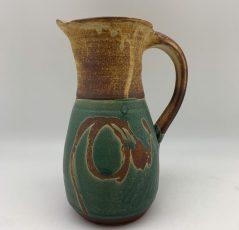 Green, Yellow & Brown Pitcher by Margo Brown - 2485